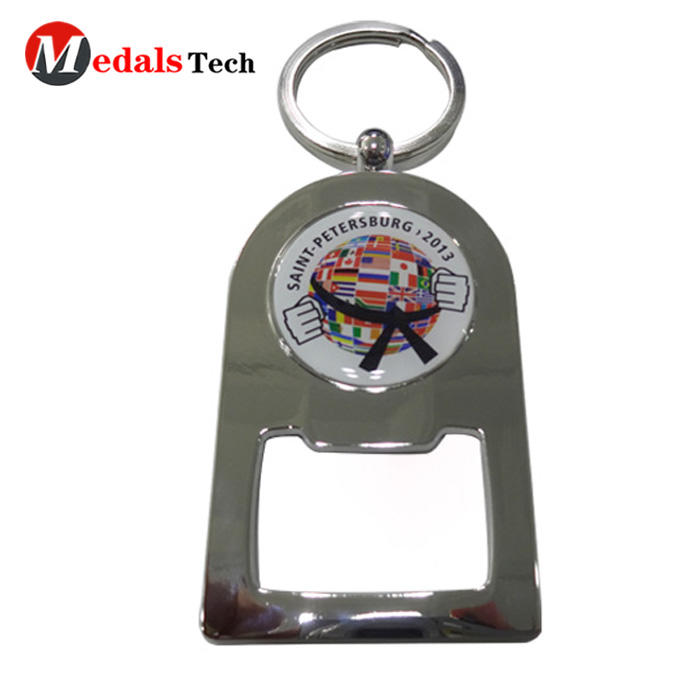 No minimum order zinc alloy engraved logo flat bottle opener