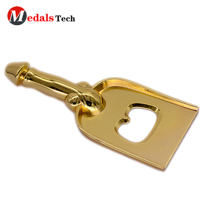 Factory price vintage shinny gold plating die casting key bottle opener