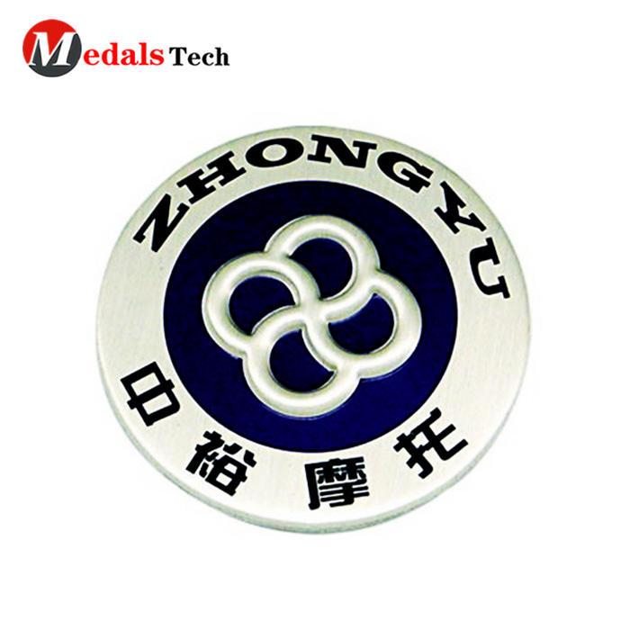 No minimum order metal logo round shape car lapel pin