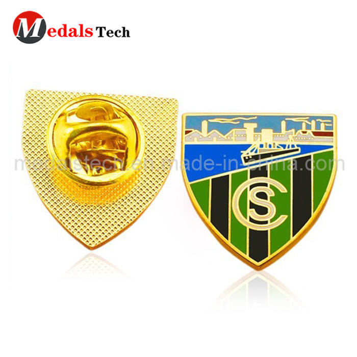 Promotional fashion poppy embossed logo 3d lapel pin