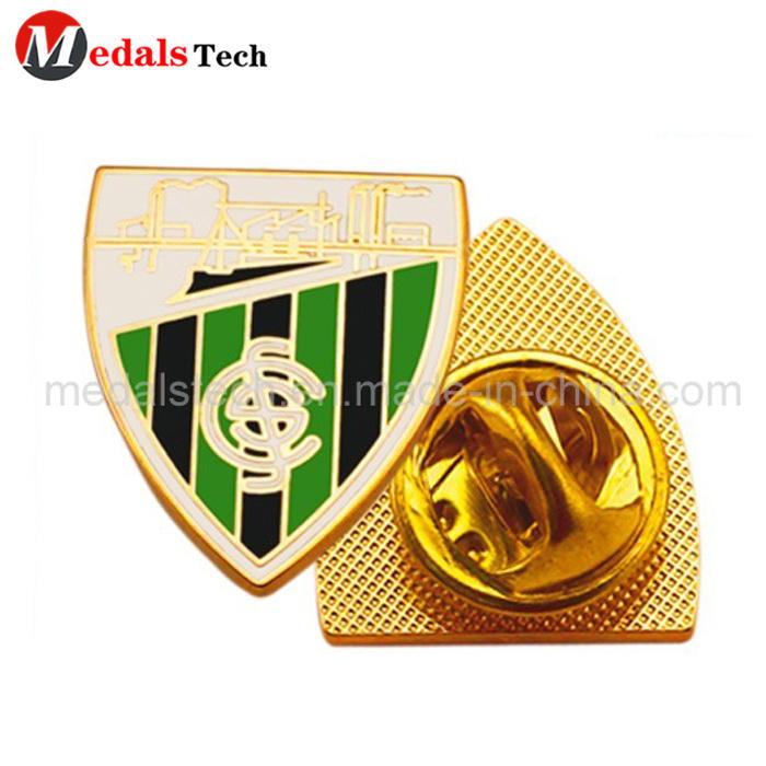 Cheap custom metal football soft enamel lapel pin