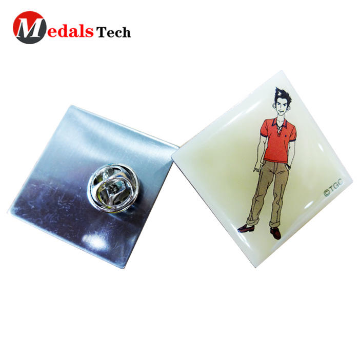 Hot selling cartoon character epoxy coated stainless steel lapel pin