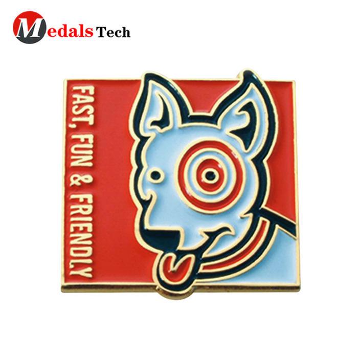 Promotional fashion poppy embossed logo 3d lapel pin