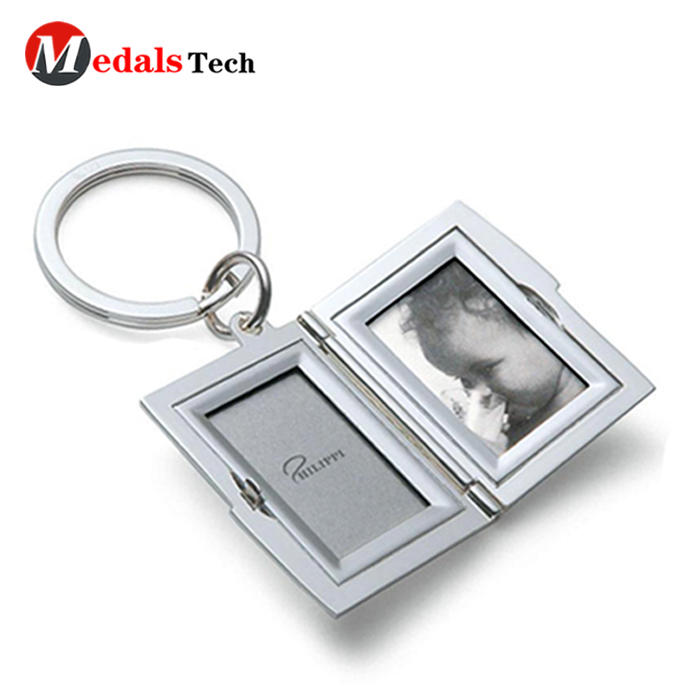 High quality metal photo frames souvenir gifts weeding keychain