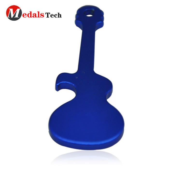 Cheap promotional musical instrument metal bottle opener souvenir