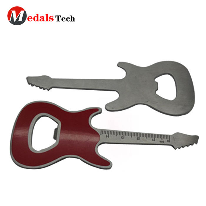 Cheap promotional musical instrument metal bottle opener souvenir