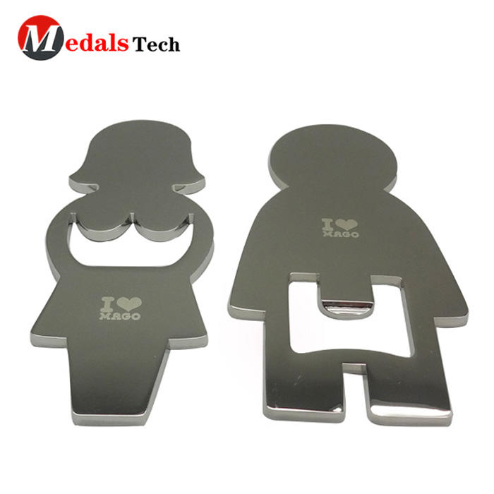 High quality custom metal silver plating flat card bottle opener