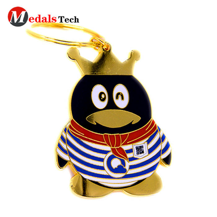 Personalized cute zinc alloy custom cartoon bottle opener keychain