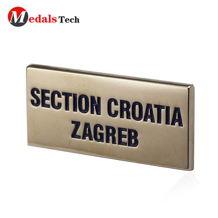 High quality custom recessed logo zinc alloy letter nameplate