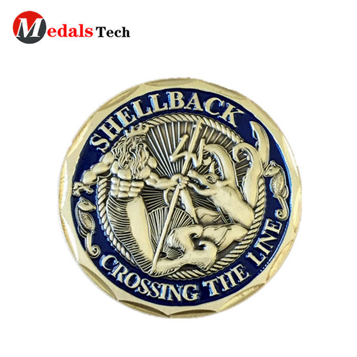 Hot selling 3d metal embossed logo color filled challenge coins