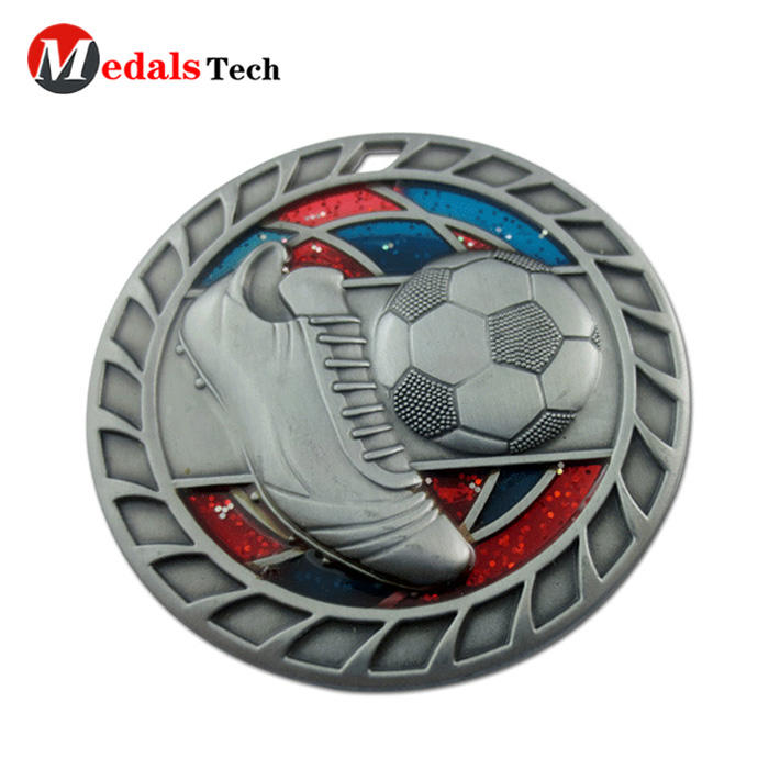 Wholesale custom football race antique silver challenge coins