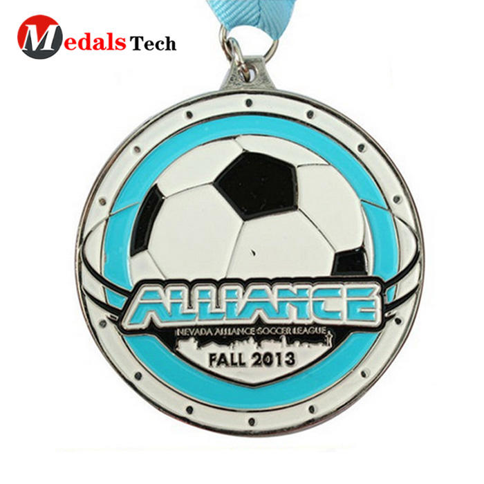 Promotional custom sport football race soft enamel medal