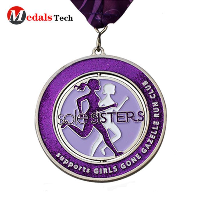 Spinning Round Marathon Medal