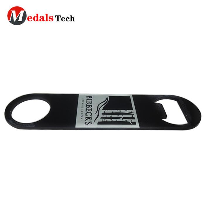 Wholesale custom zinc alloy flat laser logo bottle opener