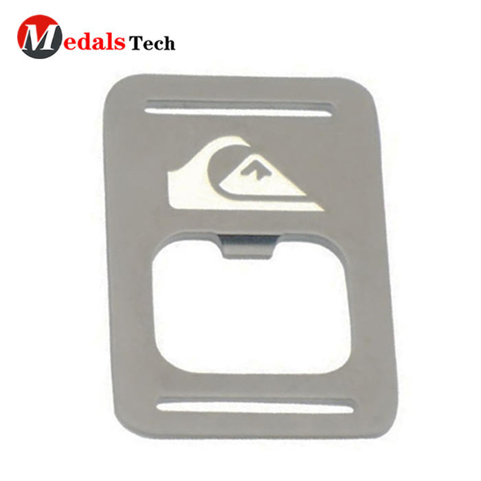 Factory direct sale metal silver plating card bottle opener