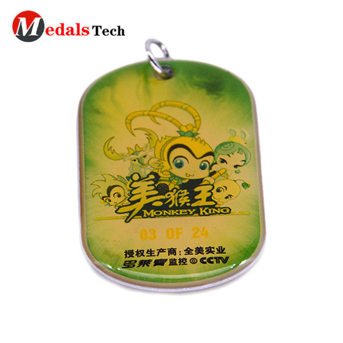 High quality custom epoxy coated sticker pets metal  dog tag