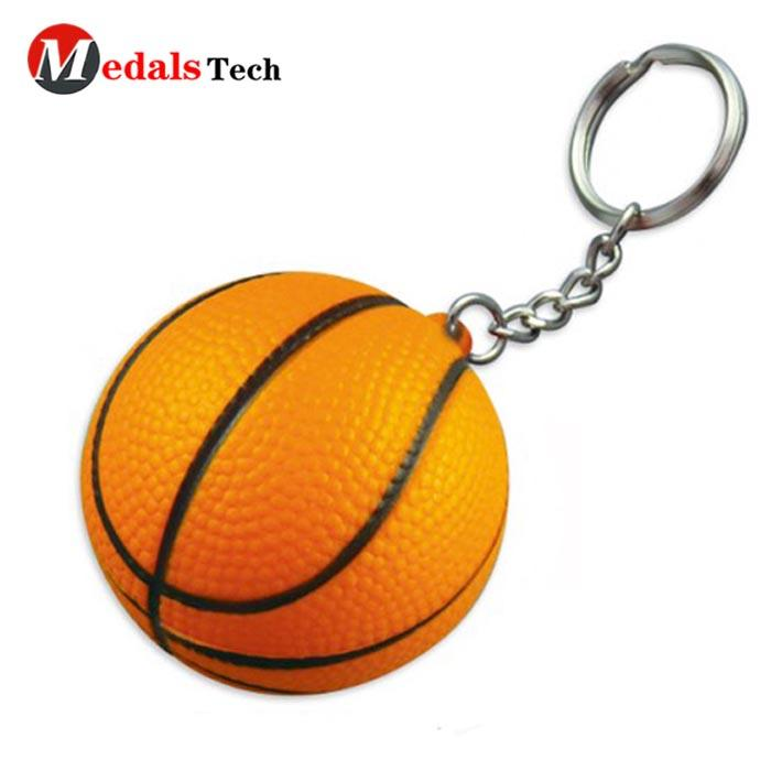 2019 New style custom metal basketball 3d sport keychain
