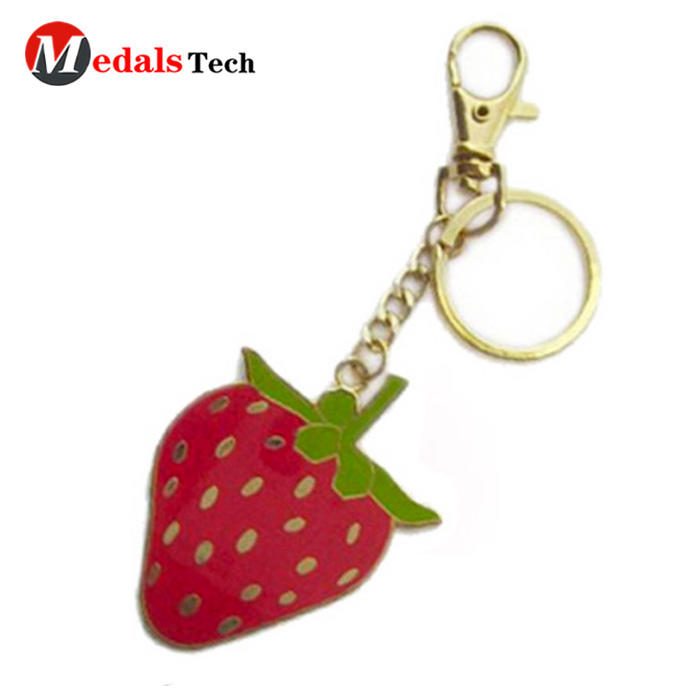 High quality custom cute poppy durable leather keychain