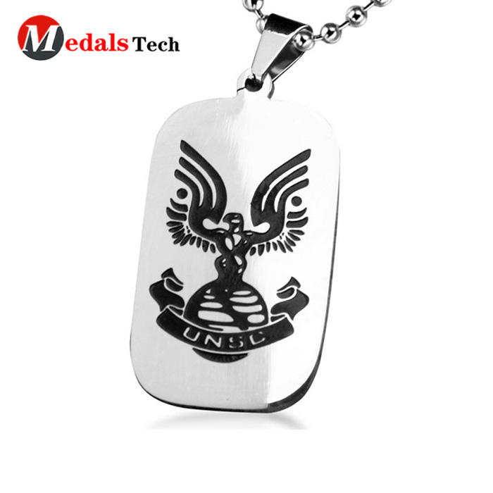 Promotional metal custom blank color filled pet dog tag