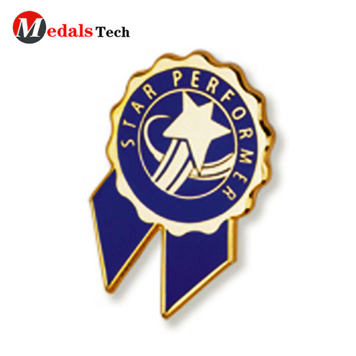 High quality custom round shape logo silver plating lapel pin
