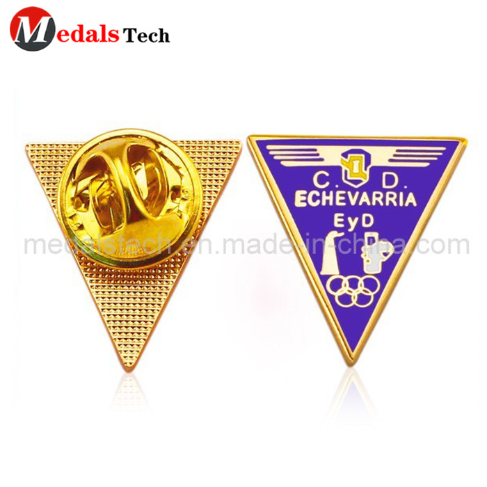 High quality custom round shape logo silver plating lapel pin-6