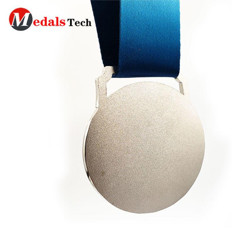 Custom Made Marathon Sport Medal With Soft Enamel Sublimation Ribbon