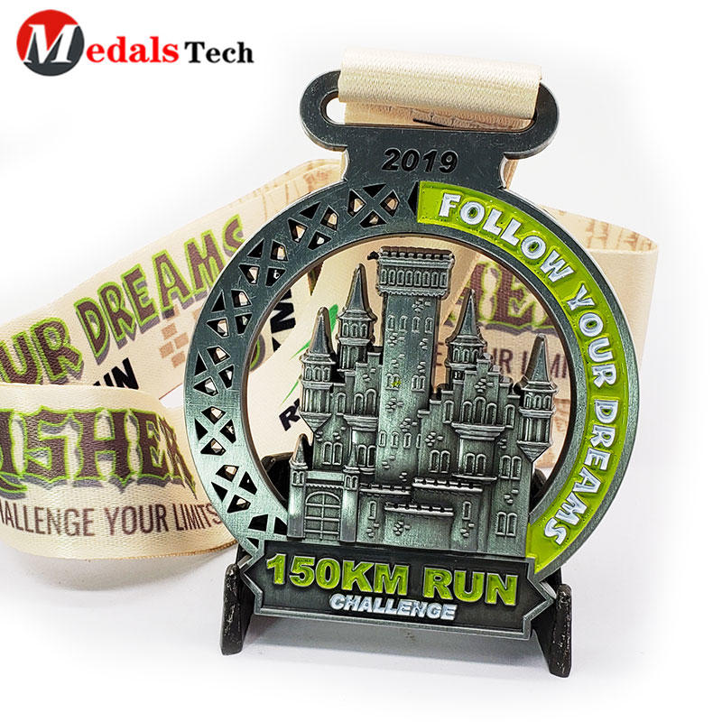 Custom Marathon Running Challenge Medals 3d Logo Hollow Out