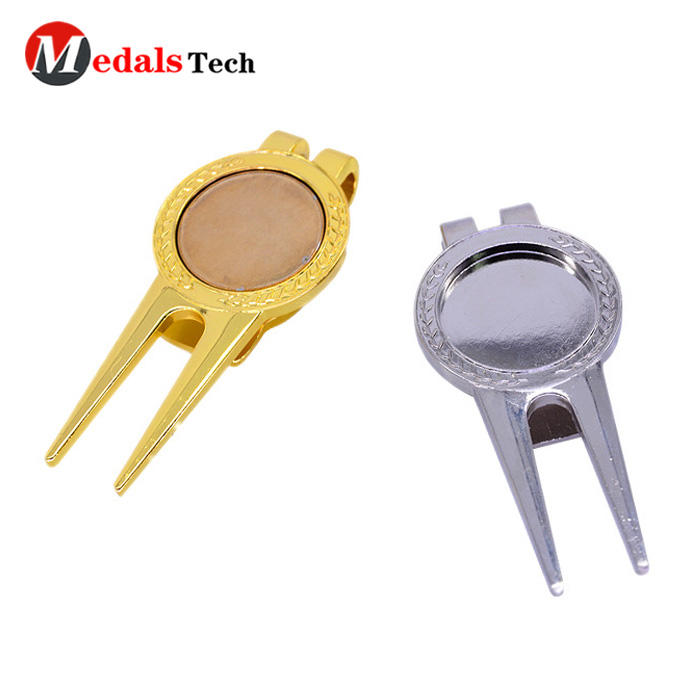 Golf Pitch Repair Tool with Gold Plating Blank