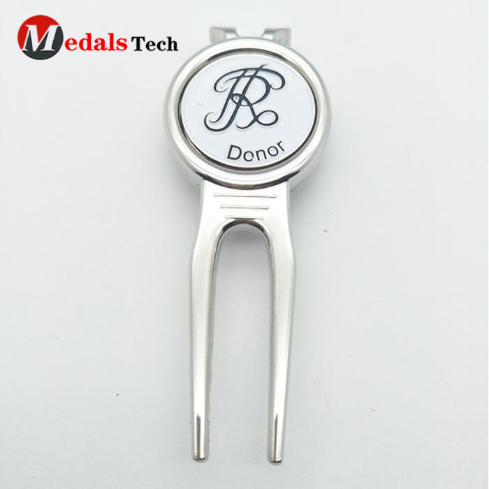 Golf Metal Divot Tool with Removable Magnet Ball Marker
