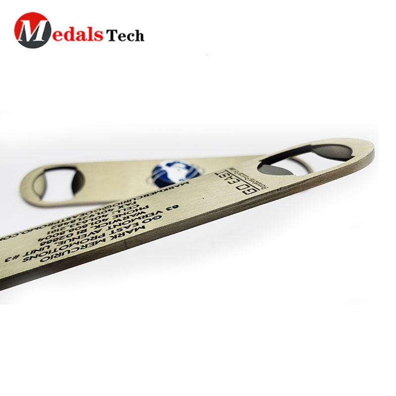 Custom Metal Bottle Opener Engraved Logo