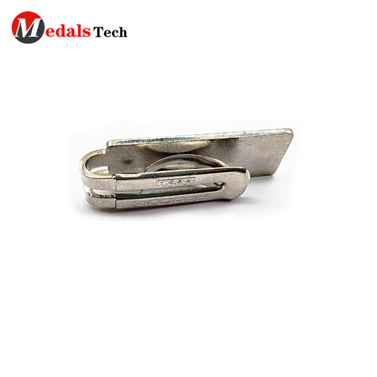 Creative cheap silver plating zinc alloy pocket money clip with soft enamel