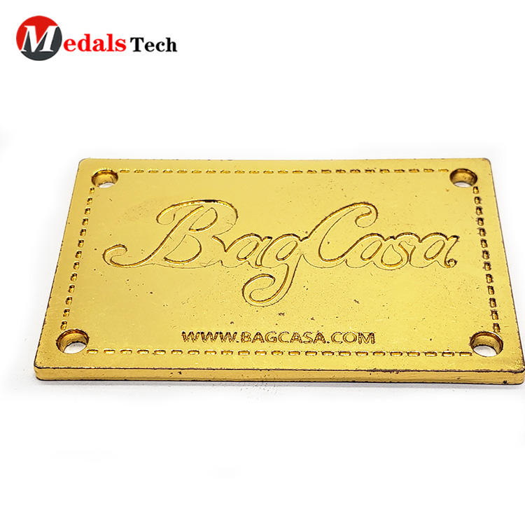 Custom Metal Nameplate Zinc Alloy Recessed Logo
