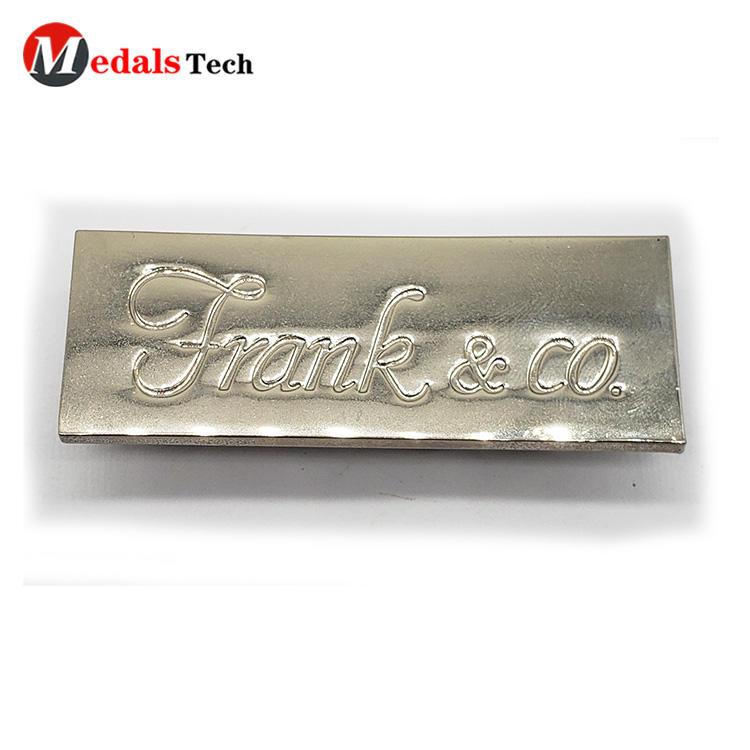 Decorative Name Plate Classical Custom Brand Logo for Handbag
