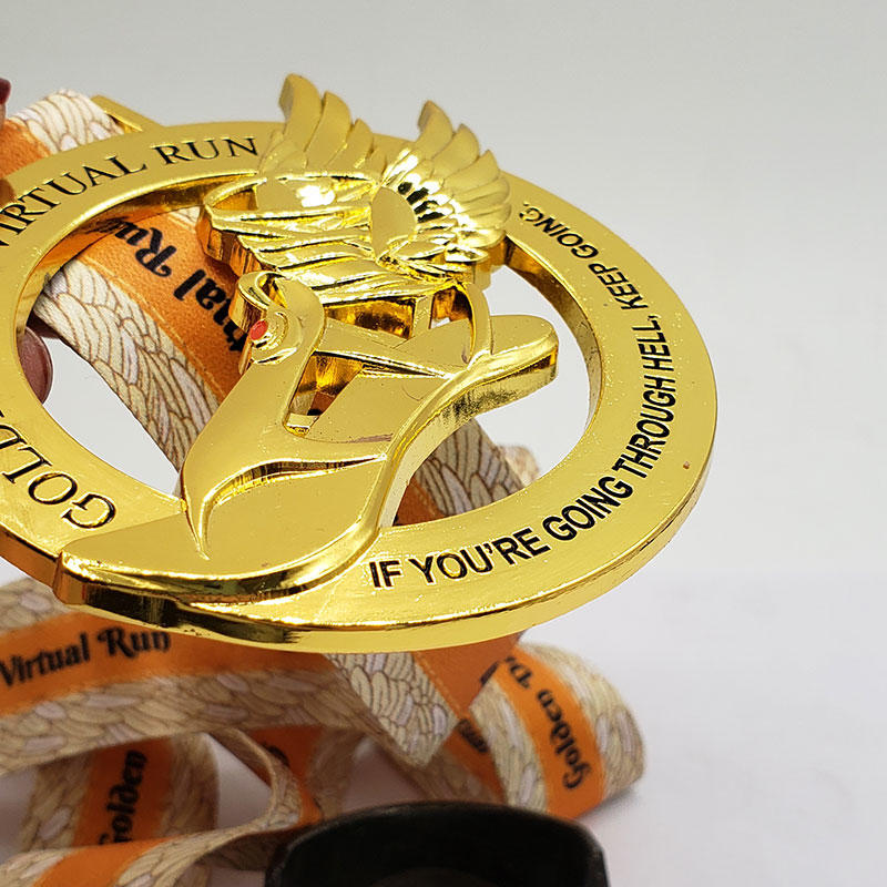 Custom Sport Medals with Shiny Gold