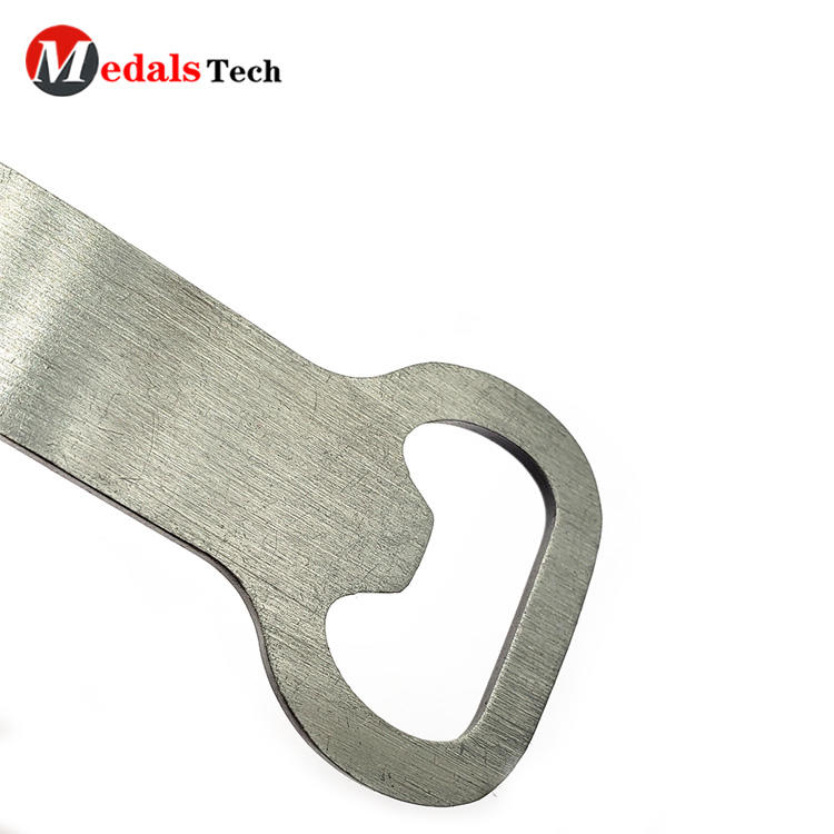 Custom Cool Beer Bottle Opener Silver Plating  with Epoxy Sticker