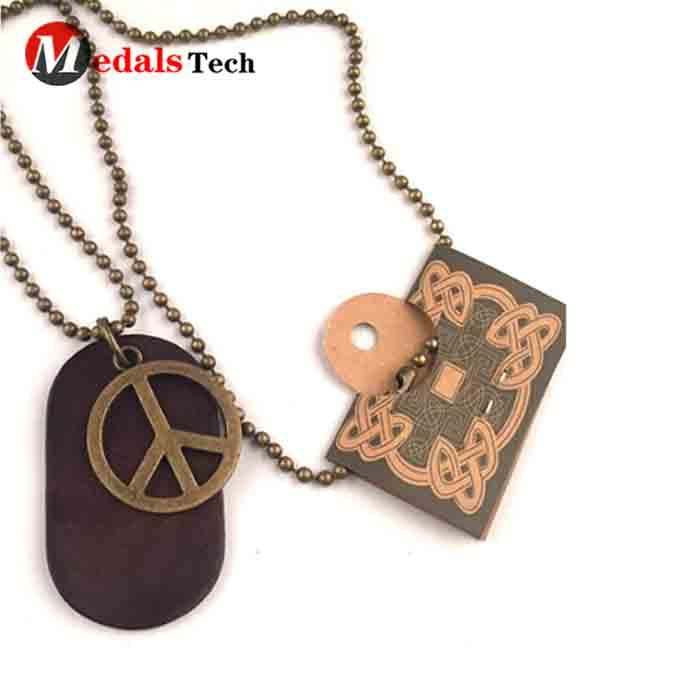 Factory wholesale cheap custom printed military dog tags with ball chain