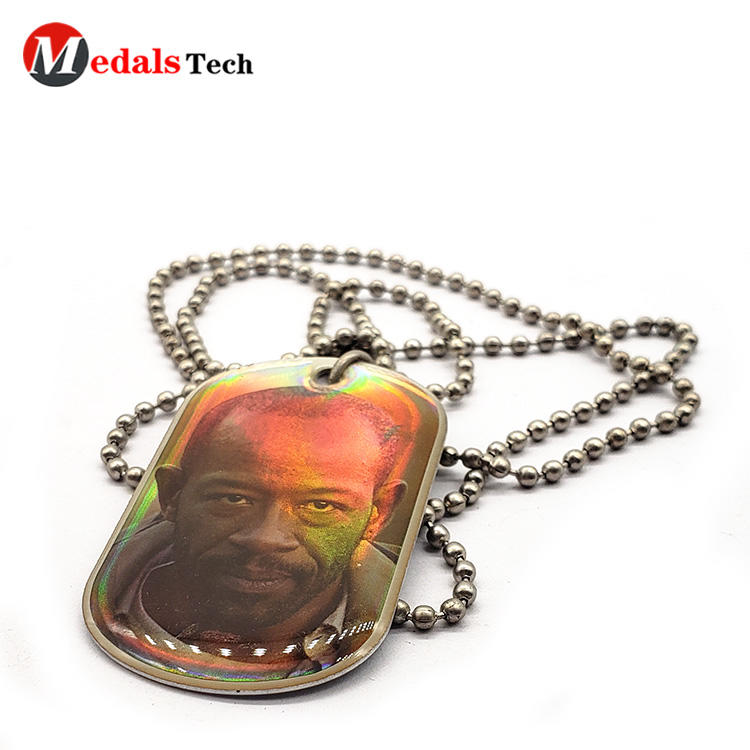New gift customized design printed epoxy dog tag necklace