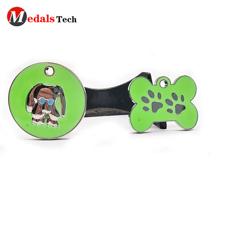 High quality cheap custom metal made luminous dog tags for pets