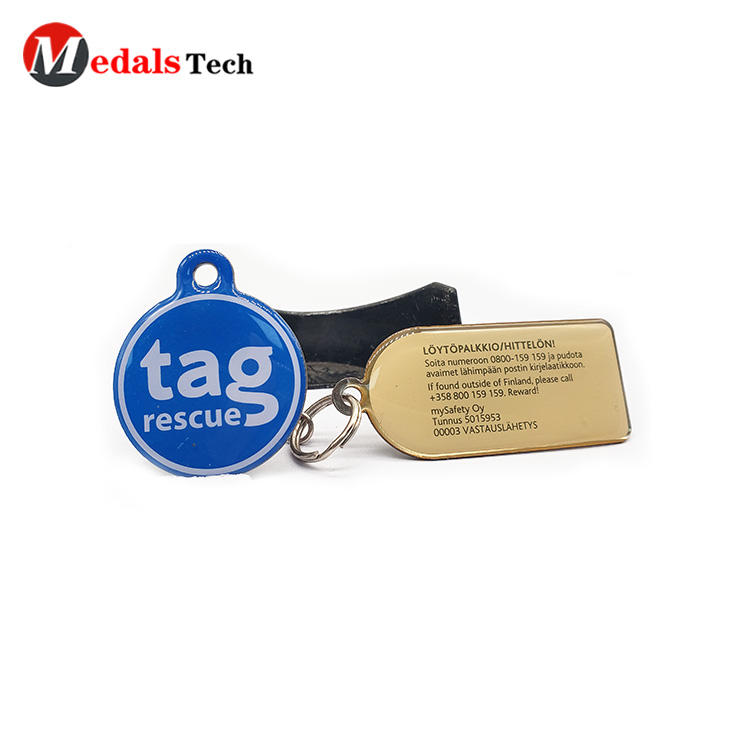 Cheap promotional mini epoxy resin logo dog tag for pets