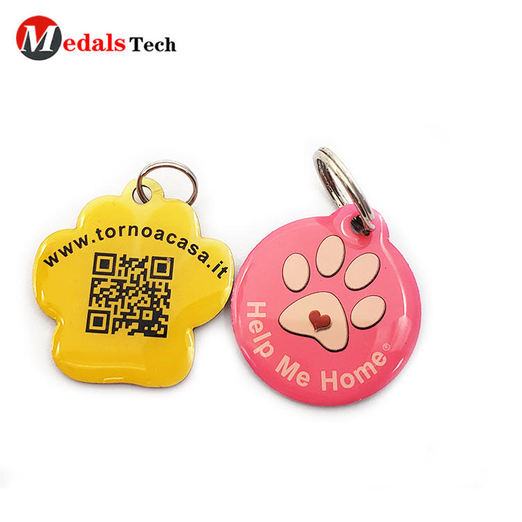 Wholesale code printing metal pets dog tag with QR Code