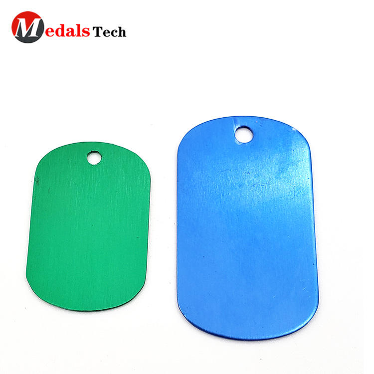 High quality blank custom anodized aluminum dog tags