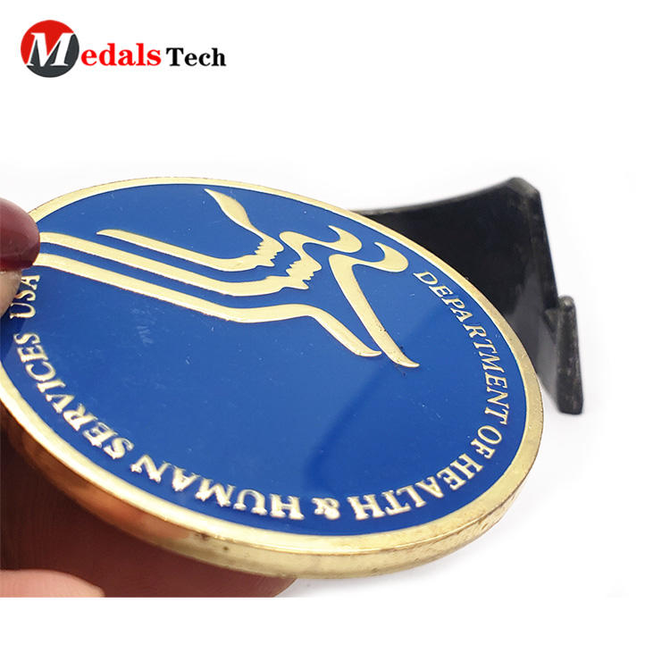 Custom Challenge Coins Shiny Gold Volunteers Event Soft Enamel