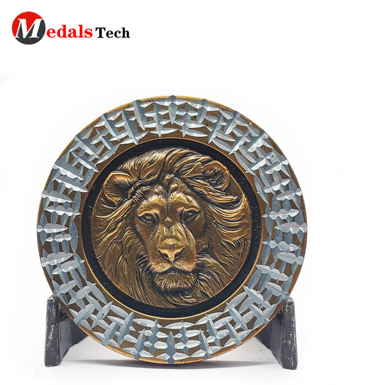 Silver Challenge Coins Promotional Custom 3d  Logo