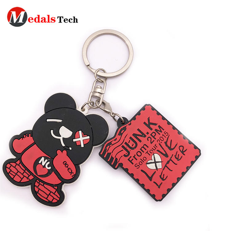 Custom Keychain with Cute Cartoon Soft  Pvc