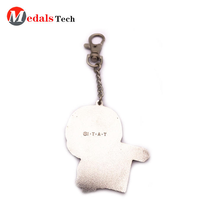 High quality zinc alloy hard enamel keychain with dog hook