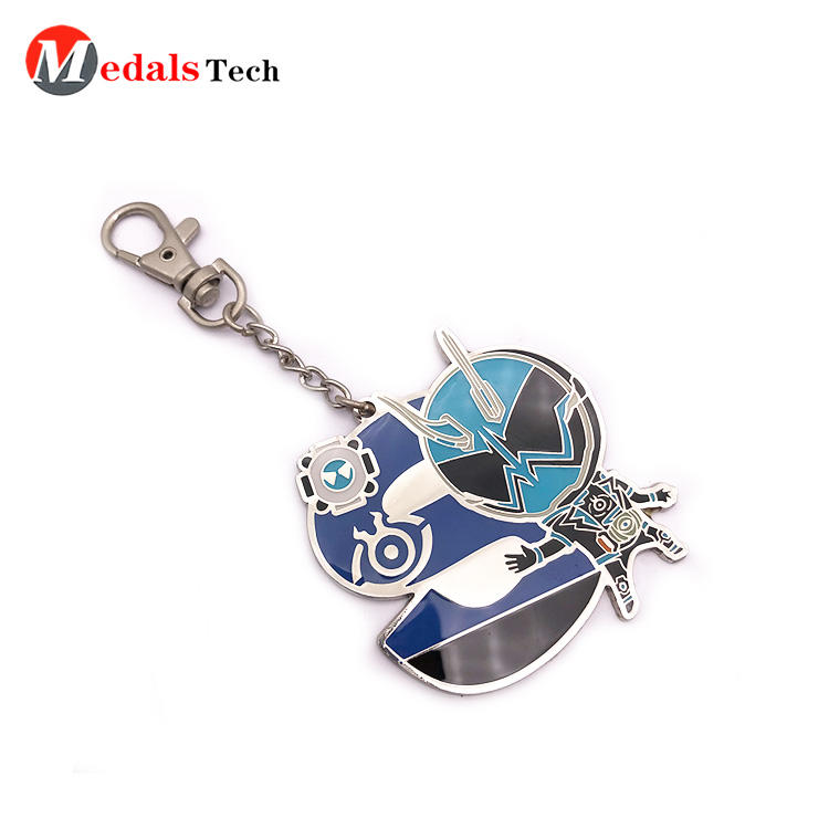 Metal Gift Name Keychain for Kids Silver 3d Logo Factory Direct Sale