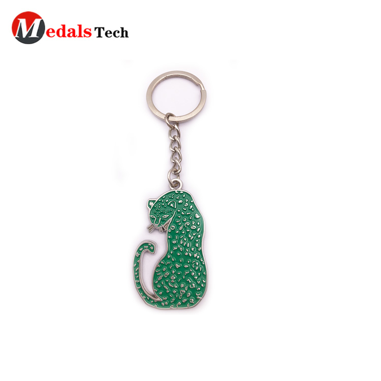 Medals Tech leather keychain from China for man-4