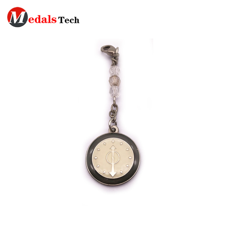 Medals Tech leather keychain from China for man-5