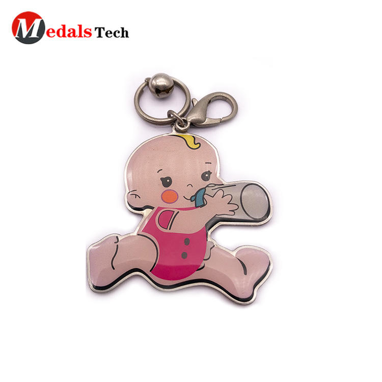 Medals Tech leather keychain from China for man