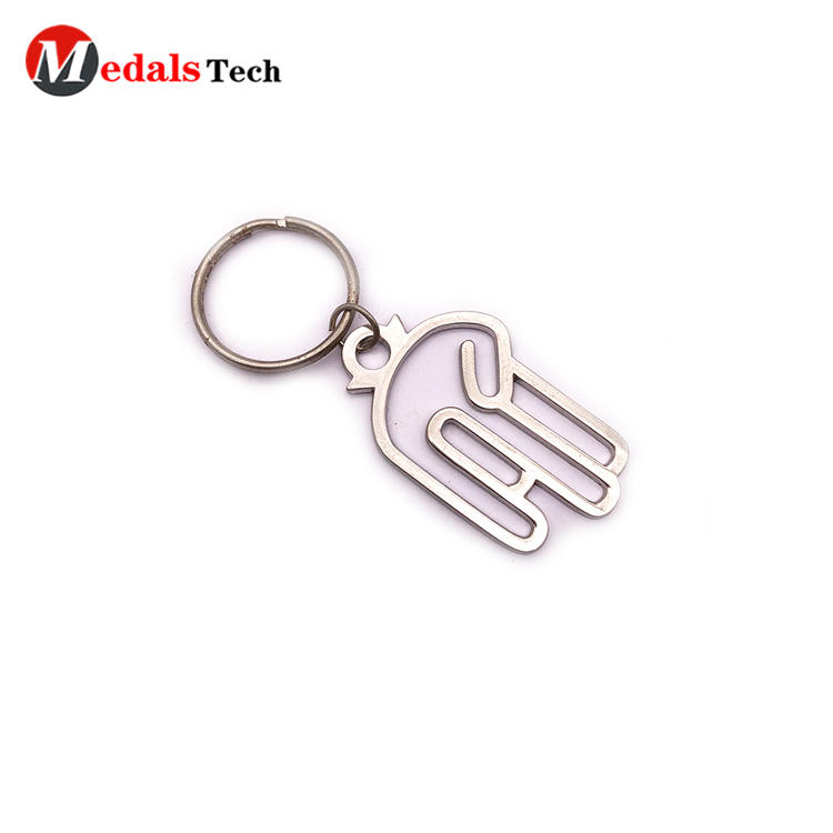Custom Metal Home Keychain Silver Plating Cut Out Blank Low Price